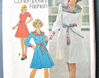 Simplicity 7130 From the year 1974 Misses' OnePiece Dress in Two Lengths Vintage Sewing Pattern Bust 34