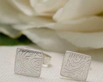 Tiny Silver Stud Earrings, Square Stud Earrings, Sterling Silver Post Earrings, Simple Silver Everyday Jewelry, Minimalist Geometric Earring