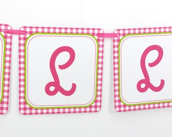 Name Banner - Made to Match Watermelon Party Birthday Banner
