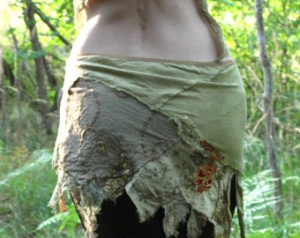 Summer sale, elver skirt festival clothing fractal wings