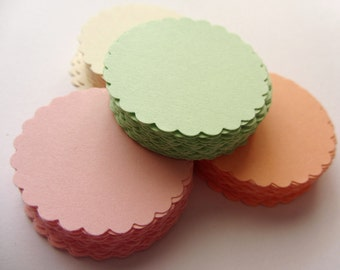 Mint green Scallop Circles Mint green Scalloped Circles die cuts Scalloped circle tags Wedding tags Wedding favors