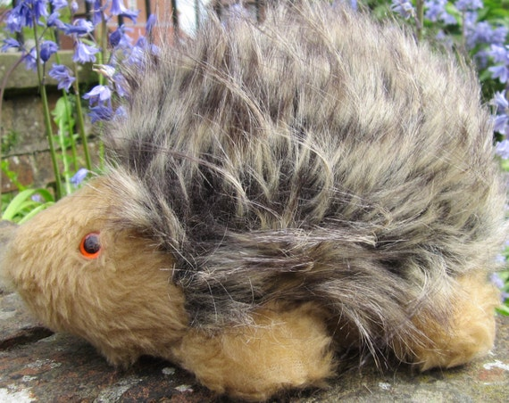 Toy Mommy Hedgehog Art Doll Brown Cream Plush Faux Furry Safe Pram Cot Boy or Girl Toy Adult Companion Stocking Stuffer Christmas Present