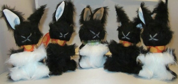 Black And White Toys For Tots : Baby bunny rabbitstuffedtoy black and white by coldhamcuddlies