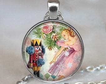 The Nutcracker ballet necklace, Nutcracker ballet pendant, ballet jewelry, ballet jewellery ballet gift, Christmas jewelry key fob key chain
