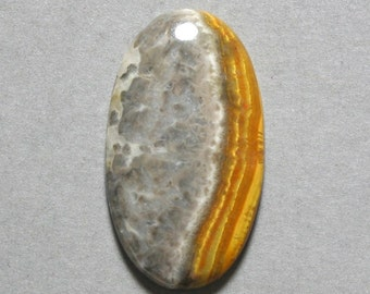 yellow orange MUSTARD JASPER cabochon oval 20X35mm designer cab