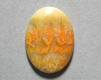 yellow orange MUSTARD JASPER cabochon oval 22X30mm designer cab