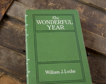 1916 THE WONDERFUL YEAR Vintage Lined Notebook Journal