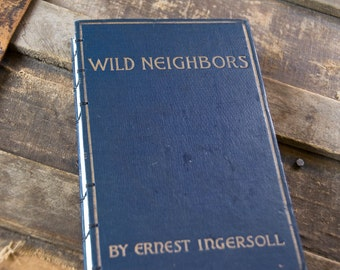 1924 WILD NEIGHBORS Vintage Lined Notebook Journal