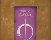 Hand Painted House Dayne Canvas Banner - Game of Thrones - Sword fo the Morning - Cosplay Prop - Flag - Sign - Sigil