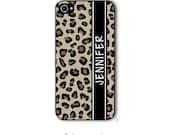Personalized iPhone Case Custom Monogram Case iPhone 4 5 5s 5c 6 6s 6 Plus, Samsung Galaxy S4 S5 S6 Tough Case Leopard Cheetah Style 203