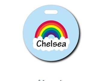 Rainbow...Personalized Luggage Bag Tag