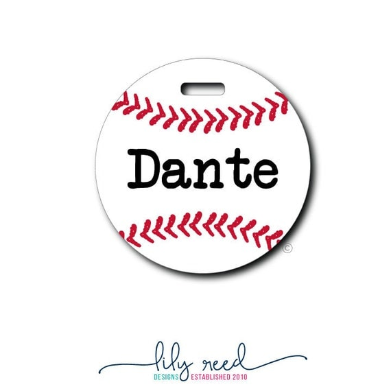 Baseball....Personalized Luggage Bag Tag