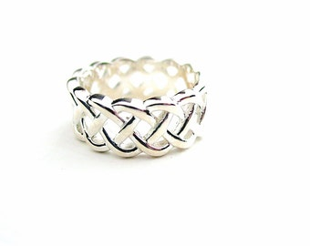 Celtic Infinity Band Sterling Silver Size 7