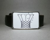 Belt Buckle Basketball Net Old Patent Unique Gift for Men or Women