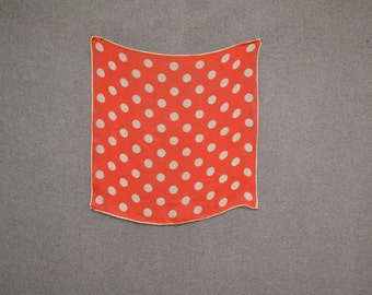 1950s Red and White Polka Dot Scarf