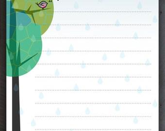 Rainy Day Note Pad