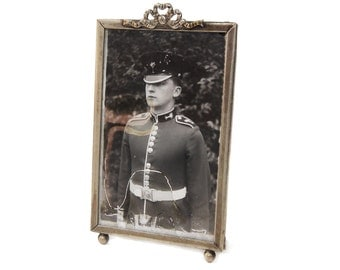 Picture Frame with Welsh Guard Soldier c.1940s WWII
