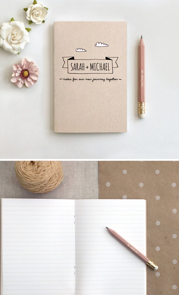 Wedding Gifts for Couple, Personalized Wedding Gift, Notebook & Pencil ...