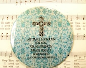 Refrigerator Magnet - My Grace is Sufficient for You Scripture Art - 2nd Corinthians 12:9 Magnet, 3.5 Inch Religious Gift