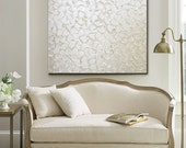 CUSTOM Original Painting Abstract Painting Large Art Pearl White Wall Art Home Decor Wall Decor Canvas Textured Sculpted sizes MADE to ORDER