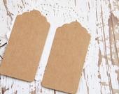 10 Etichette grandi di carta kraft - 10 Brown Kraft Gift Tags