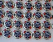 100 PBR Pabst Blue Ribbon Beer Bottle Caps Cards Poker