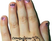 Kids Size Lace Nail wraps! Mommy and me kids nail polish strips. Nail decals made from real nail polish.
