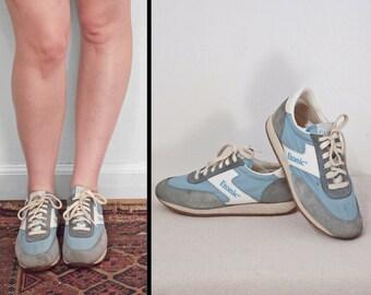 1980s ETONIC Sneakers Sky Blue & White Women's Size 7 Boys Size 5