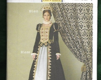 Butterick 5440  Misses' Historic Queen Victoria Skirt, and Top With Peplum Costume, Sizes 6 to 12, UNCUT/NEW