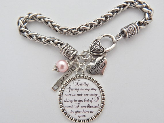 Future Mother In Law Gifts: Future Daughter In Law BRACELET Daughter In Law Gift BRIDE