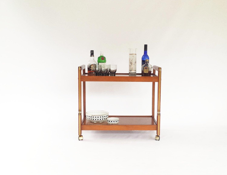 mid century modern bar cart stereo cart tv cart kitchen. Black Bedroom Furniture Sets. Home Design Ideas
