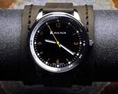 Mens Quartz Watch, Handmade Leather Straps, Valentine Gift, Groomsmen Gift, Unisex, GEQL-BD02