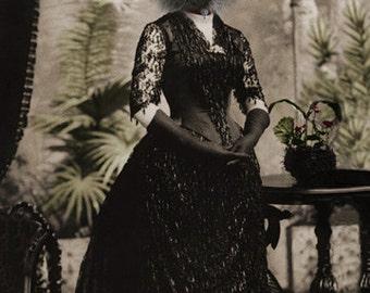 Layla, Black Cat Print, Cat Art, Anthropomorphic, Altered Photo, Gothic Art, Photo Collage, Halloween Art, Victorian Wall Decor