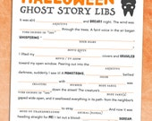 Halloween Mad Libs Game / Printable Harvest Party Favor (All Ages) Ghost Story Madlibs - Instant Download - Teal Pumpkin Project
