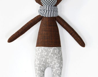 bear rag doll: Berkeley, rosey rag doll, modern