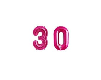 """34"""" 30th Birthday Giant Balloons, Pink Balloons, Huge Number Balloons, Dirty 30, 30th Birthday Party Decoration, 30th Anniversary, Thirtieth"""