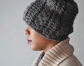 Braid Me Happy Hat | Slouchy Chunky Pom Pom Hat