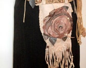 Leather Flower Hip Belt and pouch