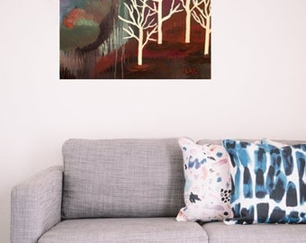 WINTER: NAKED TREES original painting acrylic on canvas