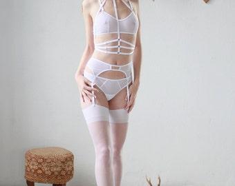 The Samantha Harness in White - Women's Bondage Body Harness
