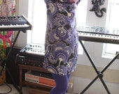 1960's Style /// Purple Psychedelic Dress