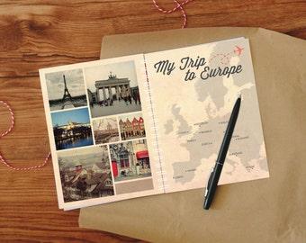 DIY printable Europe travel journal