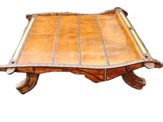 Indian Ox Cart Coffee Table Tribal Decor Bohemian Cocktail