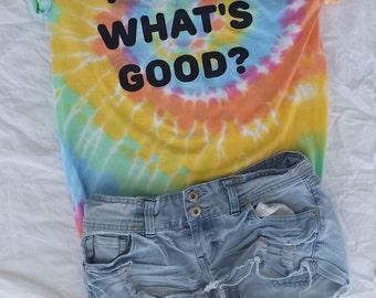 Miley What's Good? Pastel Tie Dye Shirt!