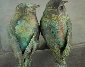 Copper Bird with Patina Finish
