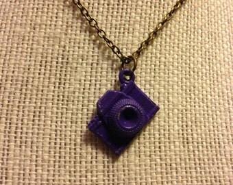 "14"" Purple&Bronze Camera Necklace"