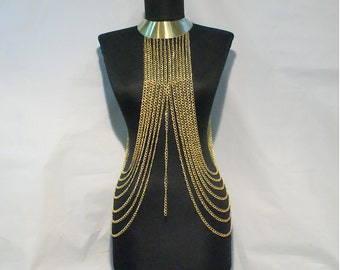 body chain- body chain necklace- gold body chain - chain necklace -body chain gold - body chain jewelry