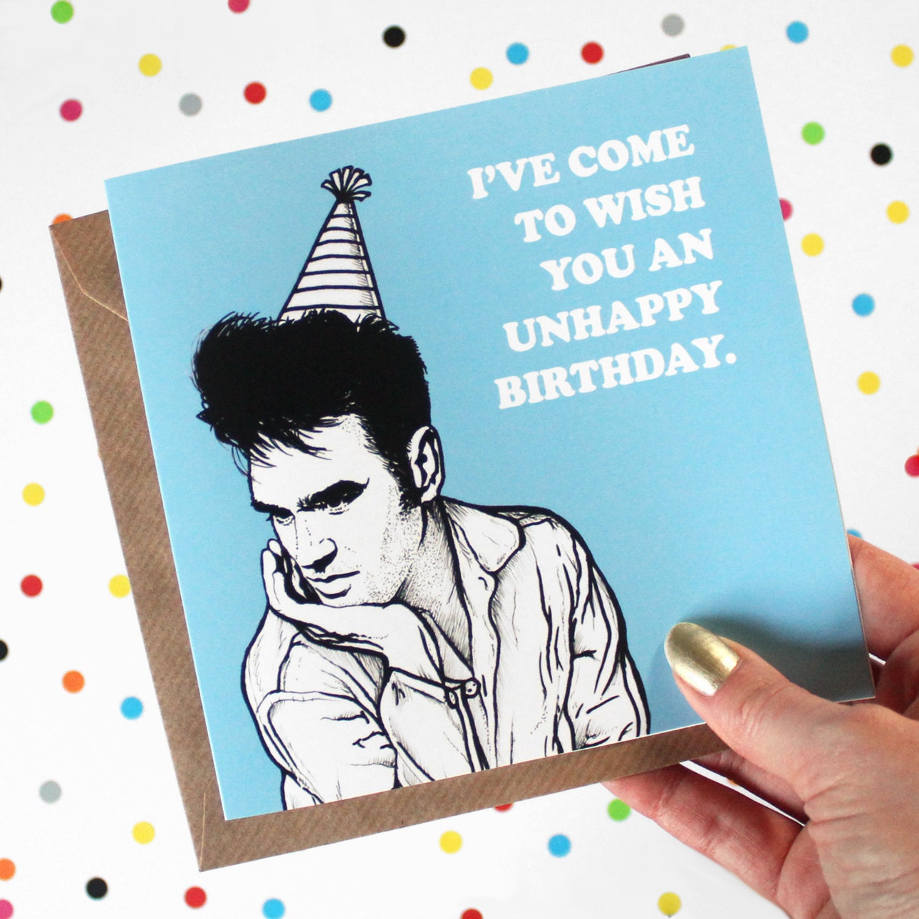 The Smiths Morrissey Birthday Card BLUE By ClortyCatCrafts