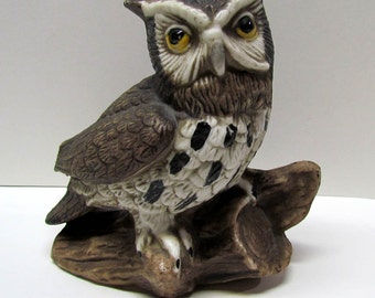 Vintage Ceramic Owl Figurine - Collectibles - Home Decor