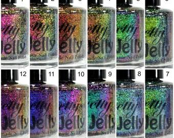 PICK ONE 5ml MINI Nail Polish, Ultra Multichrome Flakie Nail Lacquer, Flake Glitter Top Coat, Color Shifting Nail Varnish, Indie Nail Polish